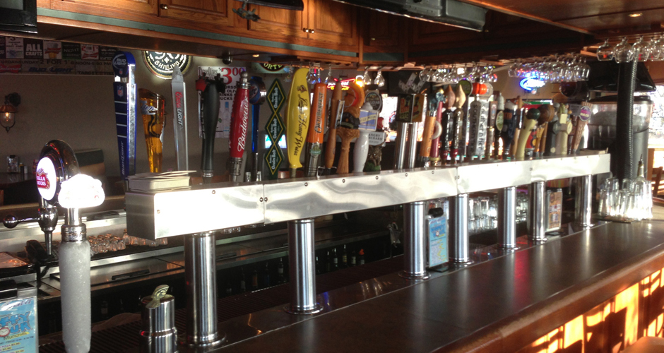 We have a large selection of Craft Beer and mixed drinks.